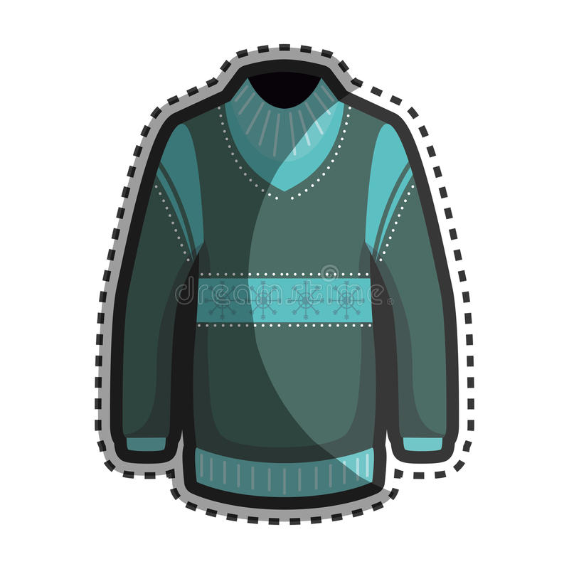 Значок куртки зимы моды иллюстрация штока