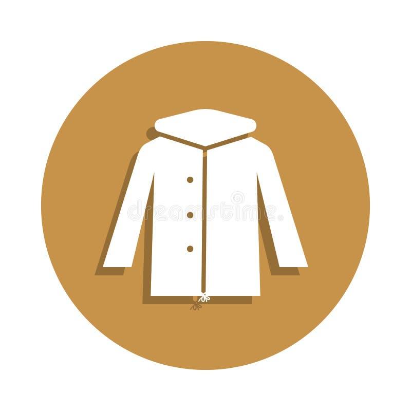 Значок куртки Parka зимы в стиле значка Одно значка собрания одежд можно использовать для UI, UX иллюстрация штока