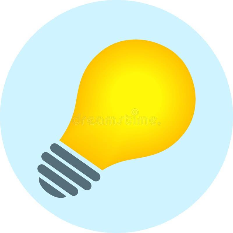 Значок лампочки иллюстрация вектора