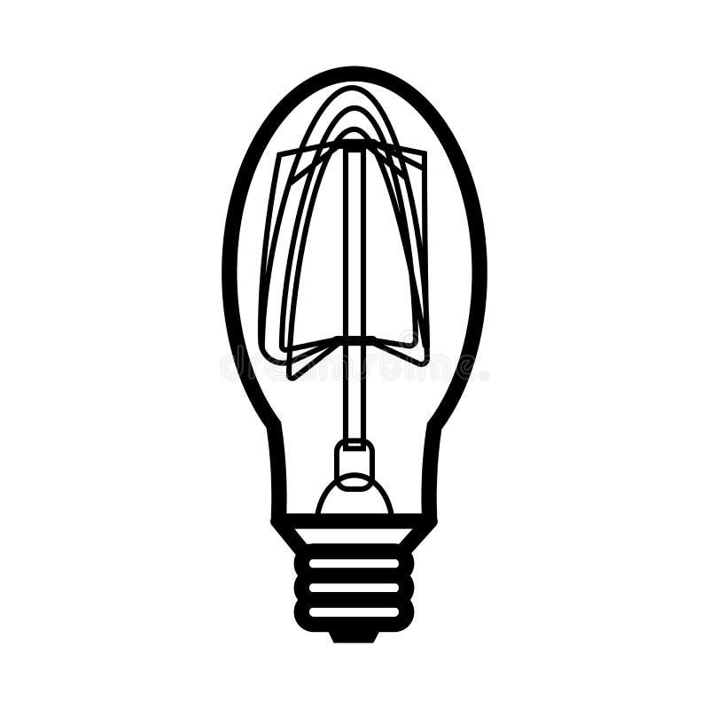 Значок лампы в стиле плана иллюстрация штока