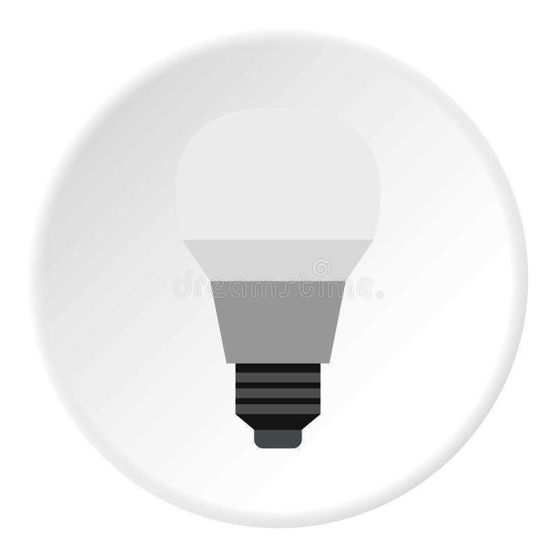 Значок лампы, плоский стиль иллюстрация вектора