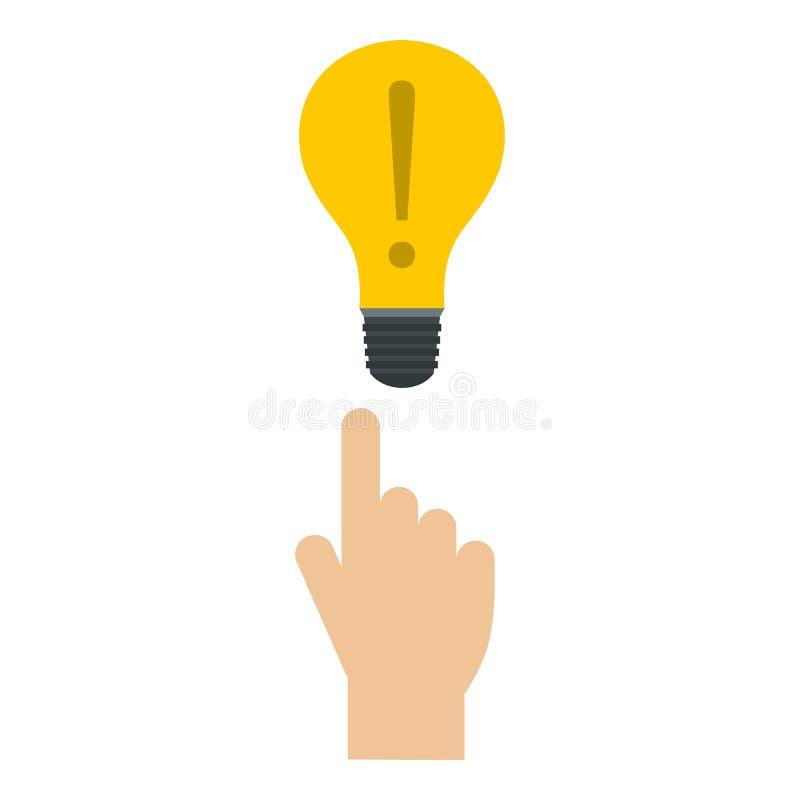 Значок лампы, плоский стиль бесплатная иллюстрация
