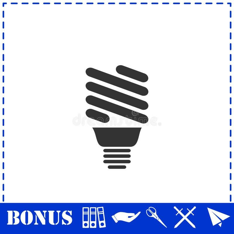 Значок лампы энергии ECO плоско бесплатная иллюстрация