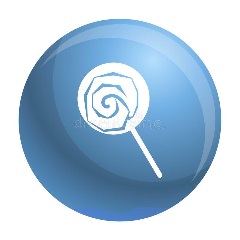Значок леденца на палочке, простой стиль иллюстрация вектора