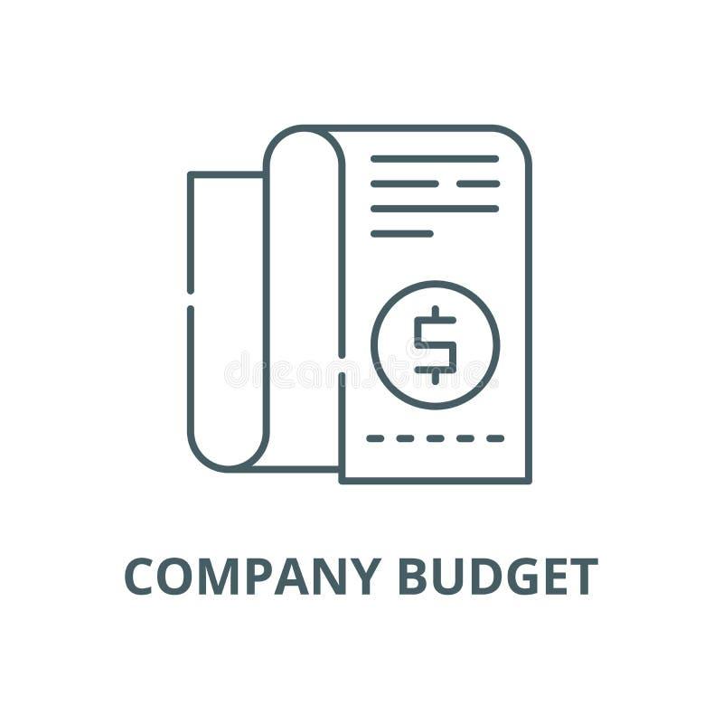 Значок линии бюджета компании, вектор Знак плана бюджета компании, сим иллюстрация вектора
