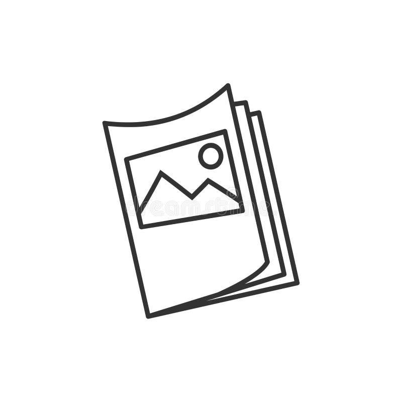 Значок листовки рогульки в плоском стиле Illustra вектора листа брошюры иллюстрация вектора