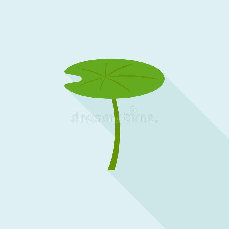 Значок лист лотоса иллюстрация вектора