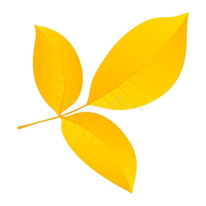 Значок лист осени, плоский стиль бесплатная иллюстрация
