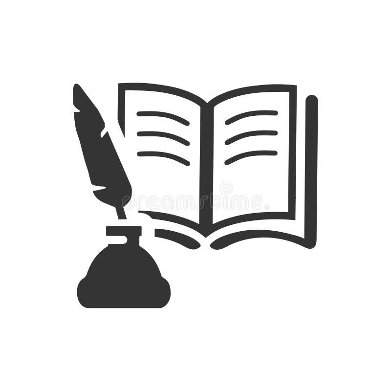 значок литературы иллюстрация вектора