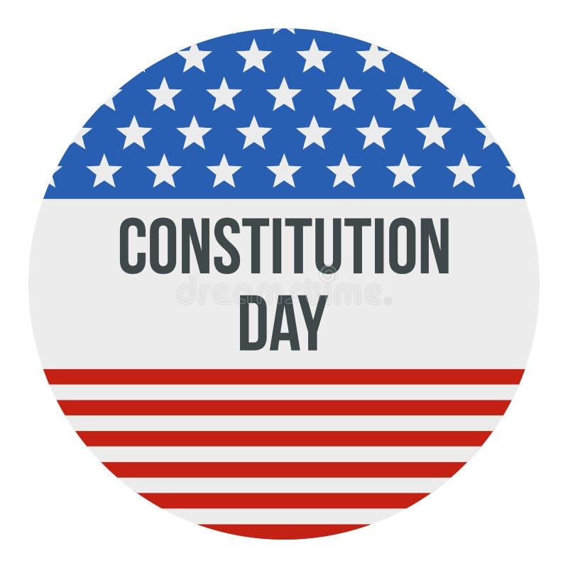 Значок логотипа Дня Конституции американского флага, плоский стиль иллюстрация штока