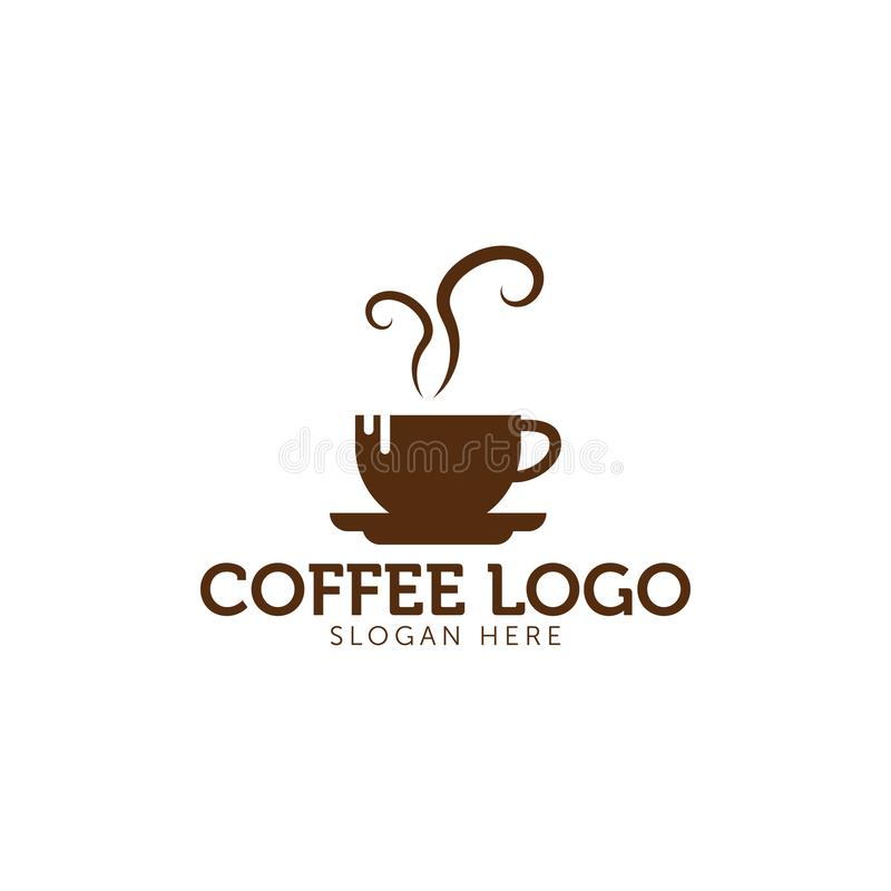 Значок логотипа кофе иллюстрация вектора