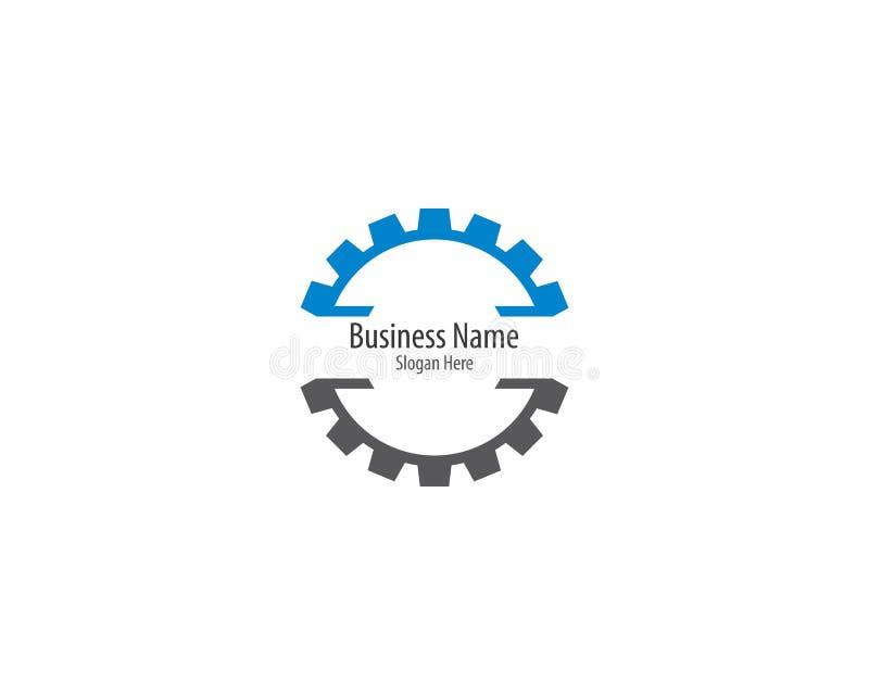 Значок логотипа машинного оборудования шестерни бесплатная иллюстрация