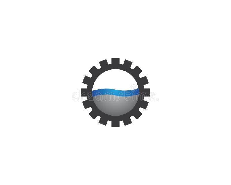 Значок логотипа машинного оборудования шестерни иллюстрация вектора
