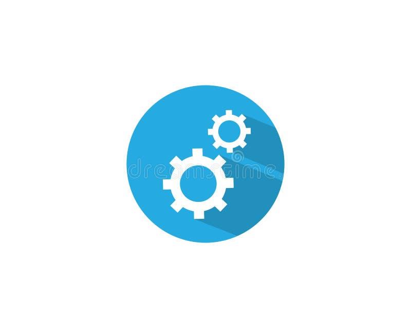 Значок логотипа машинного оборудования шестерни иллюстрация штока