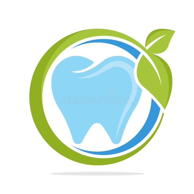 Значок логотипа с здоровой концепцией зубоврачебной заботы иллюстрация вектора