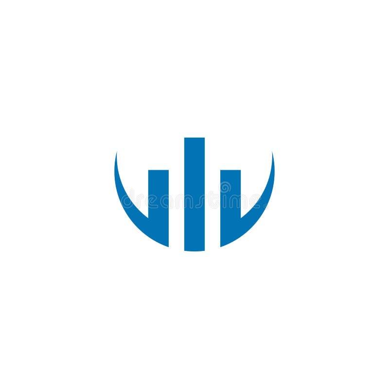 Значок логотипа финансов дела иллюстрация штока