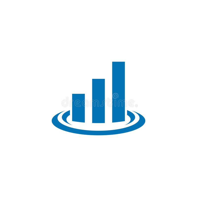 Значок логотипа финансов дела иллюстрация вектора