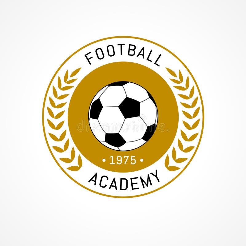 Значок логотипа футбола изолированный на белой предпосылке бесплатная иллюстрация