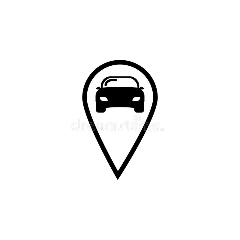 Значок логотипа Pin автомобиля иллюстрация вектора