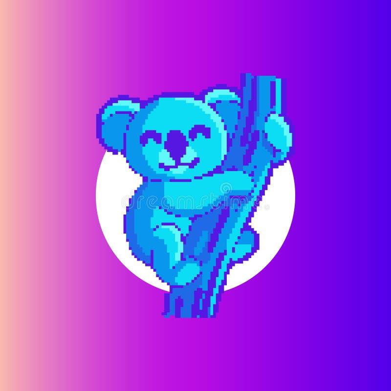 Значок/логотип изображения коалы Иллюстрация искусства иллюстрация штока
