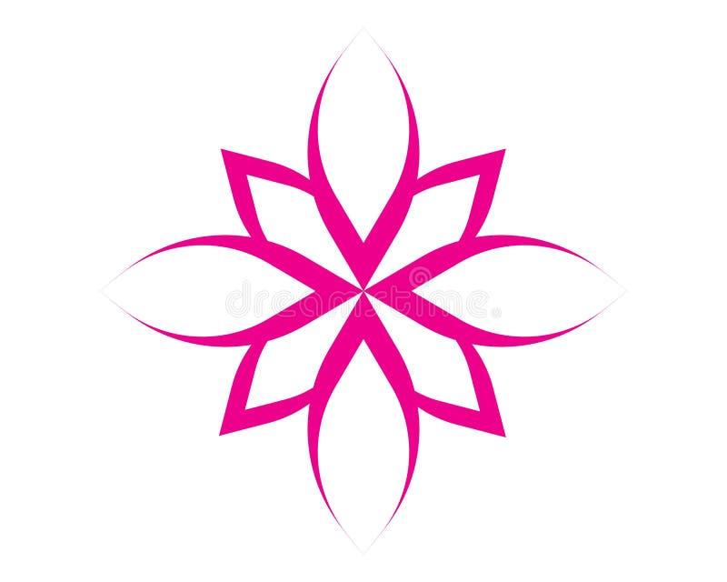 Значок лотоса вектора красоты иллюстрация вектора