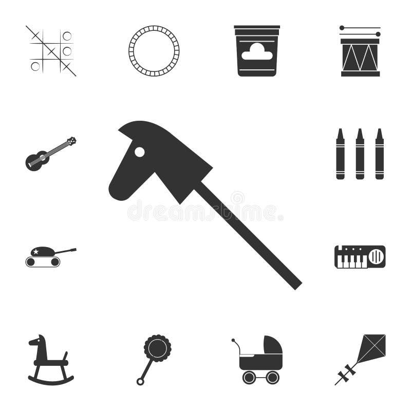 Значок лошади игрушки Детальный комплект значка игрушек Наградной графический дизайн Один из значков собрания для вебсайтов, веб- иллюстрация штока