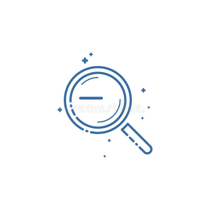 Значок лупы Дизайн иллюстрации вектора плоско линейный иллюстрация штока