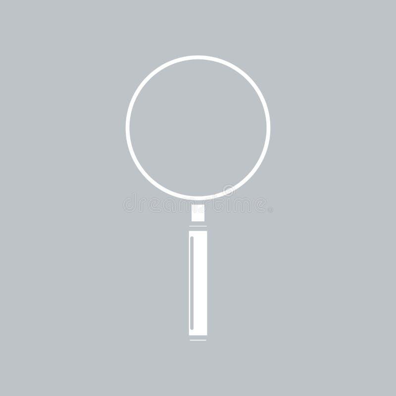Значок лупы на серой предпосылке, для любого случая иллюстрация штока