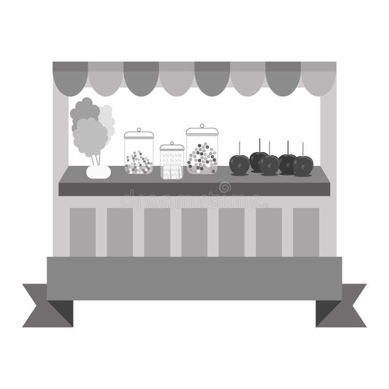 Download Значок магазина конфеты иллюстрация вектора. иллюстрации насчитывающей ретро - 81802369