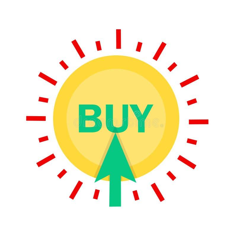 Значок магазина, логотип вектора покупки иллюстрация вектора