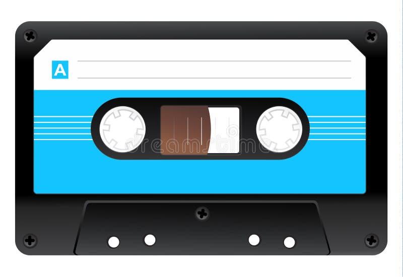 Значок магнитофонной кассеты иллюстрация вектора