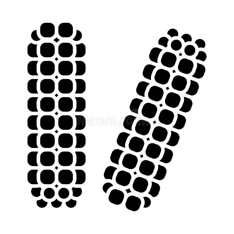 Значок маиса мозоли, иллюстрация вектора, знак на изолированной предпосылке иллюстрация штока