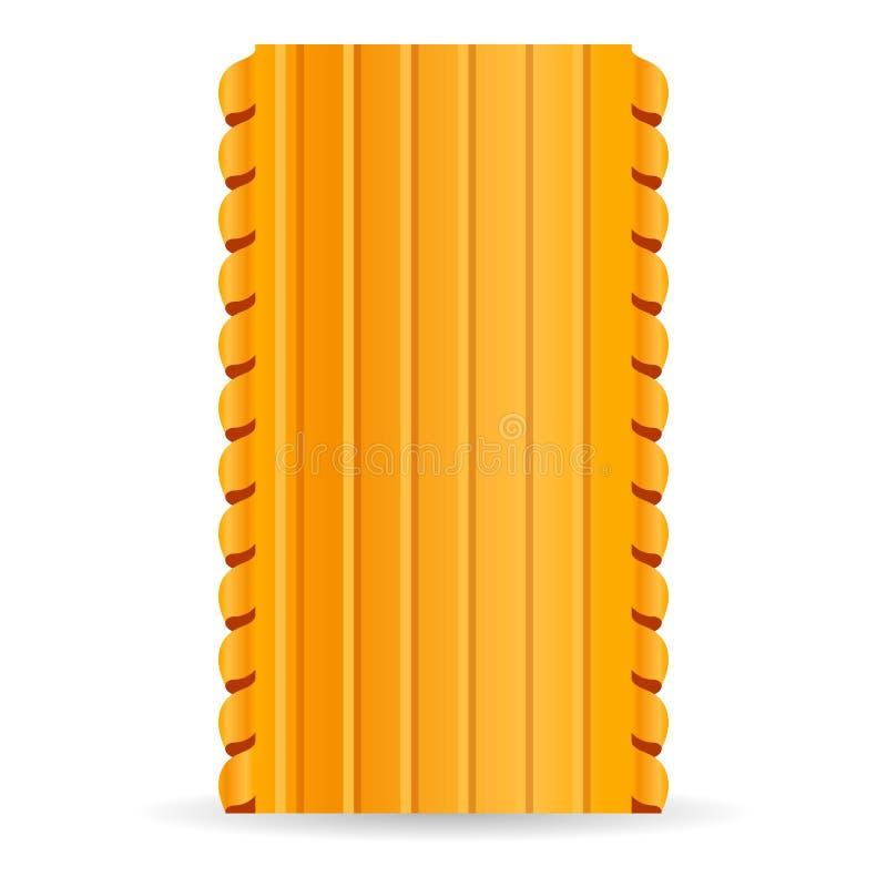 Значок макаронных изделий лазаньи, стиль мультфильма иллюстрация вектора