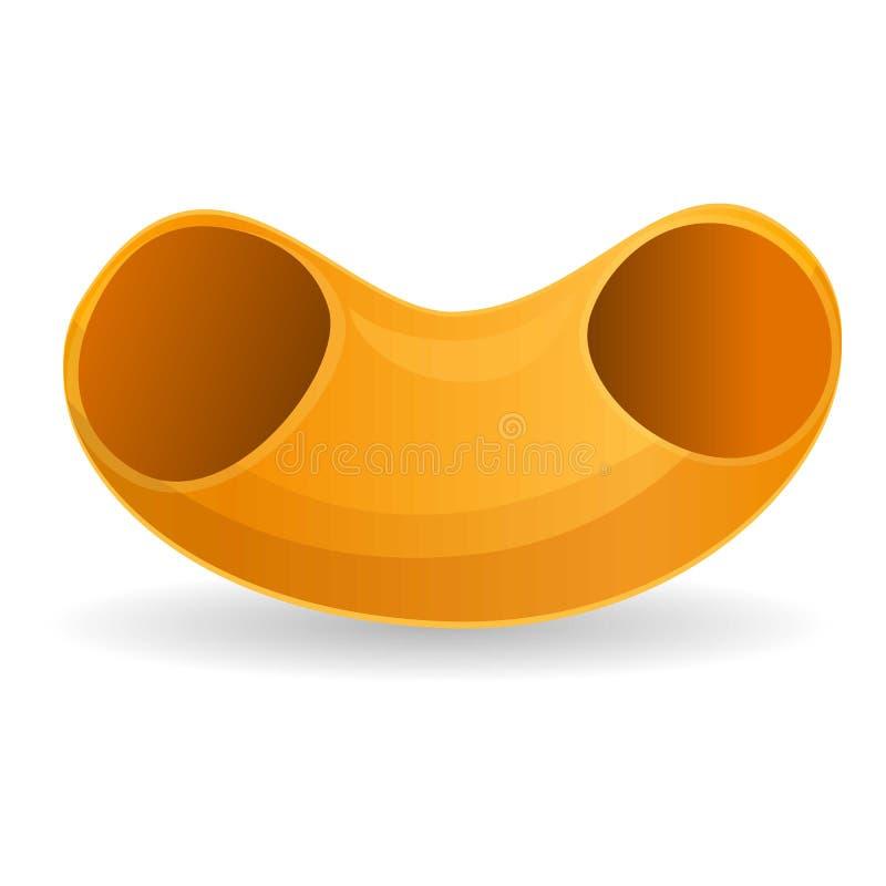 Значок макаронных изделий локтей, стиль мультфильма бесплатная иллюстрация