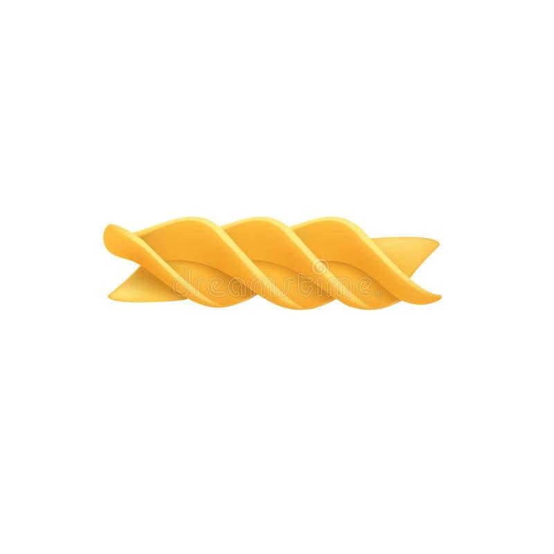 Значок макаронных изделий Fusilli, реалистический стиль иллюстрация вектора