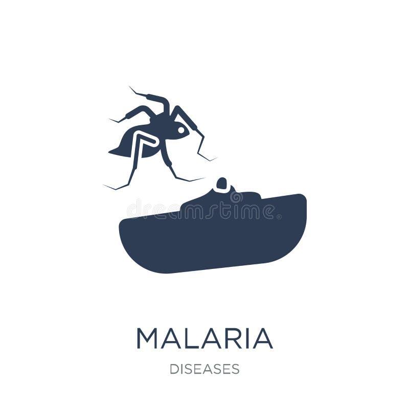 Значок малярии Ультрамодный плоский значок малярии вектора на белом backgroun иллюстрация вектора