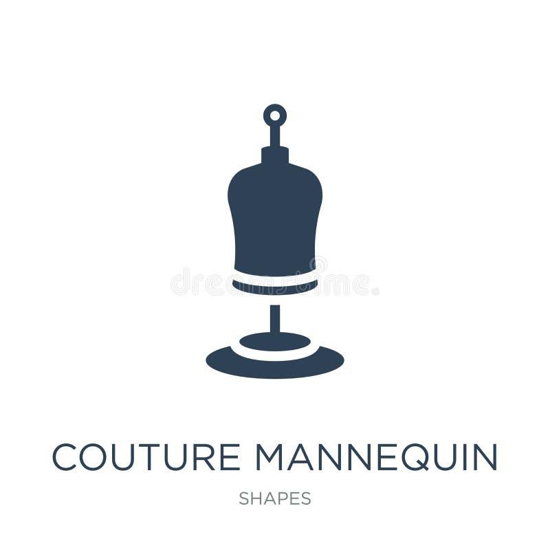 значок манекена ателье мод в ультрамодном стиле дизайна Значок манекена ателье мод изолированный на белой предпосылке значок вект иллюстрация штока