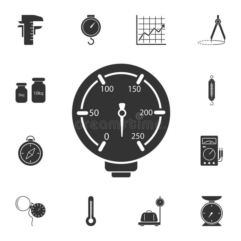 Значок манометра Простая иллюстрация элемента дизайн символа манометра от измеряя комплекта собрания Смогите быть использовано в  иллюстрация штока