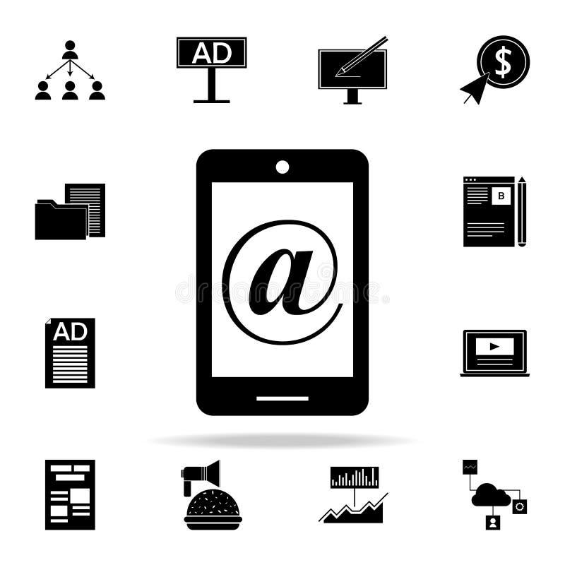 значок маркетинга интернета Комплект значков маркетинга цифров всеобщий для сети и черни иллюстрация штока