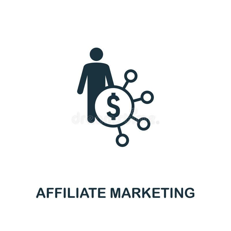 значок маркетинга присоединенного филиала Наградной дизайн стиля от рекламировать собрание значка UI и UX Значок маркетинга присо бесплатная иллюстрация