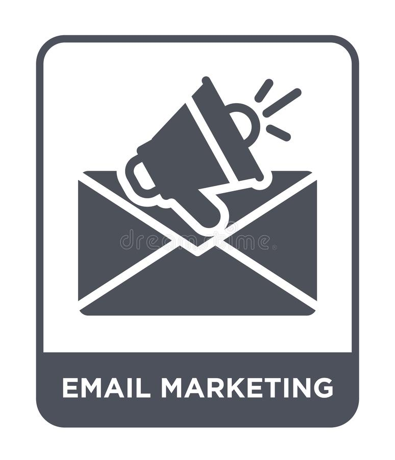 значок маркетинга электронной почты в ультрамодном стиле дизайна значок маркетинга электронной почты изолированный на белой предп бесплатная иллюстрация