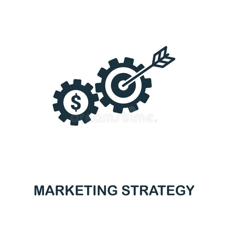 Значок маркетинговой стратегии творческий Простая иллюстрация элемента Дизайн символа концепции маркетинговой стратегии от онлайн иллюстрация штока