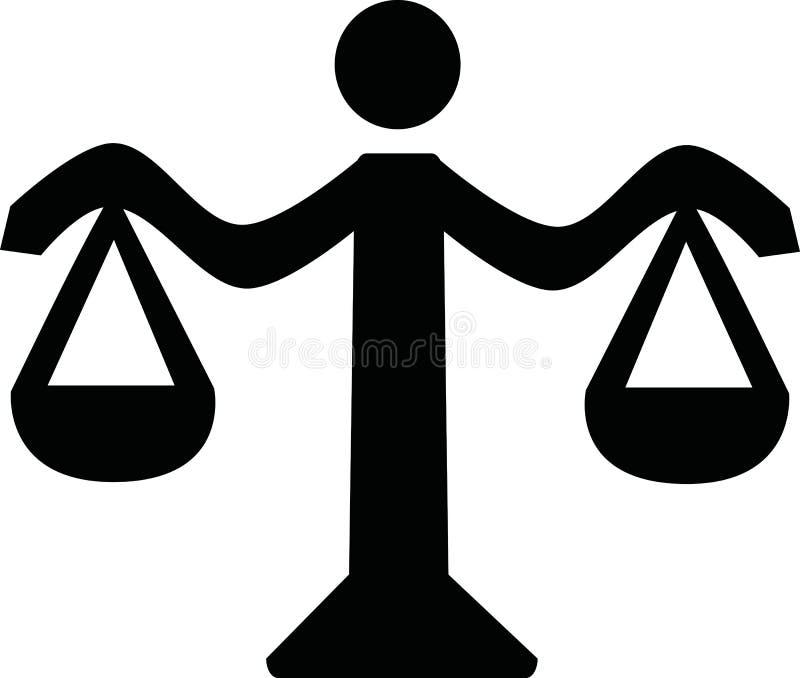 Значок масштаба правосудия иллюстрация вектора