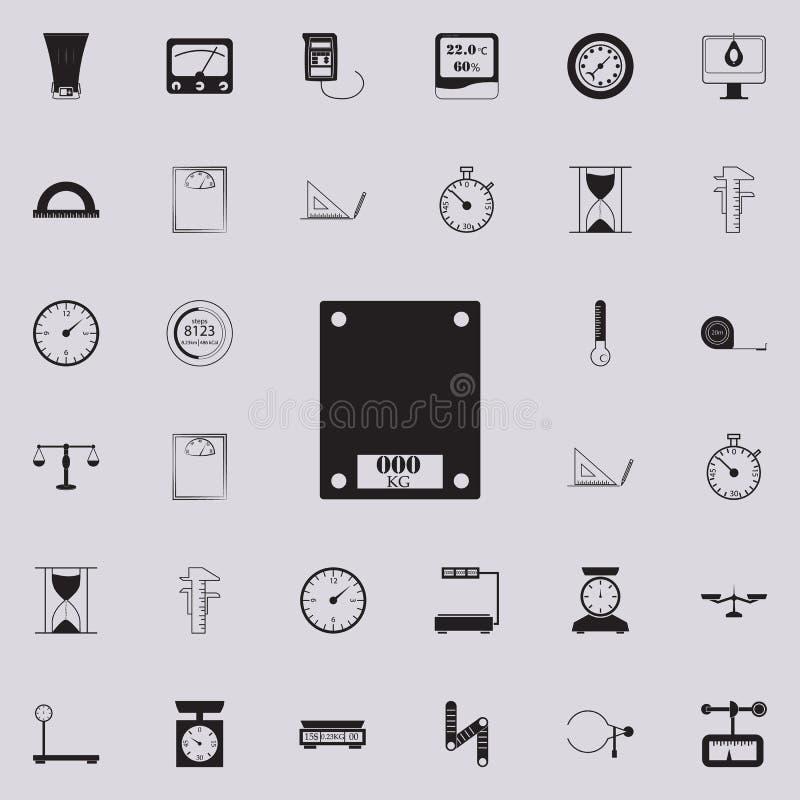 значок масштабов ванны Детальный комплект значков измеряя элементов Наградной качественный знак графического дизайна Один из знач иллюстрация вектора