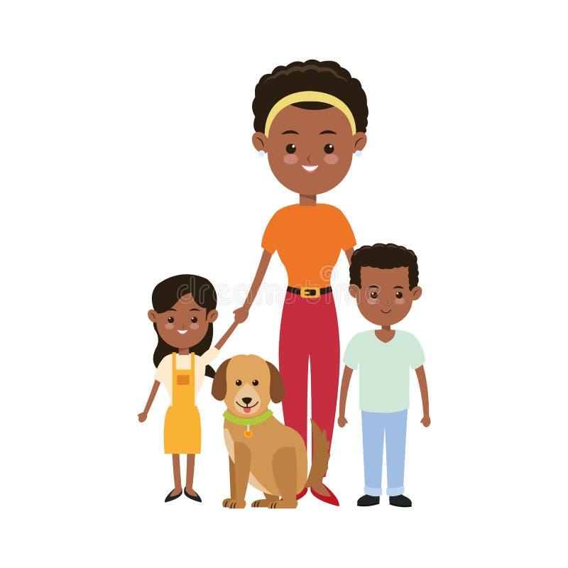 Значок матери и детей Дизайн семьи по мере того как вектор свирли предпосылки декоративный графический стилизованный развевает бесплатная иллюстрация