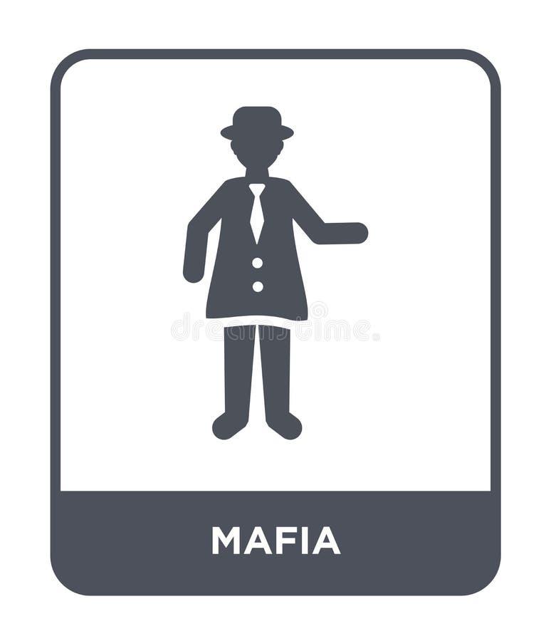 значок мафии в ультрамодном стиле дизайна значок мафии изолированный на белой предпосылке символ значка вектора мафии простой и с иллюстрация вектора