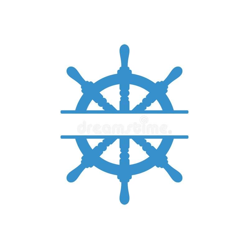 Значок маховичка Рулевое колесо моря Изолированная иллюстрация вектора иллюстрация вектора
