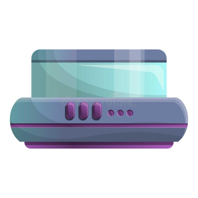 Значок машины кухонного комбайна, стиль мультфильма иллюстрация вектора