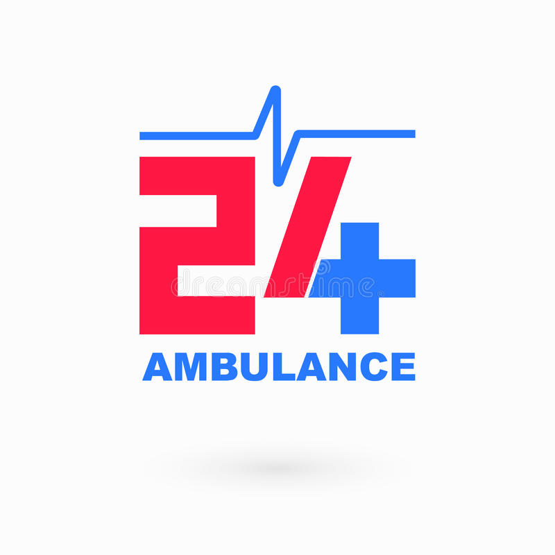 Значок машины скорой помощи здравоохранения и медицинского обслуживания простой бесплатная иллюстрация