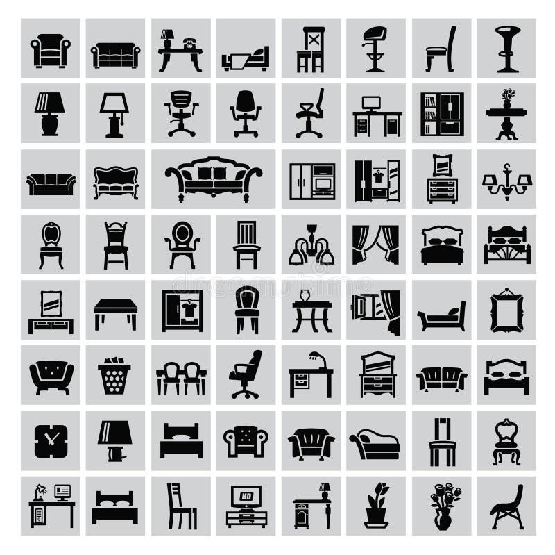 Значок мебели иллюстрация вектора